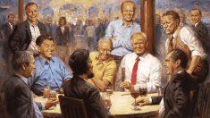 트럼프가 링컨과 다이어트 콜라를?..백악관내 그림 화제