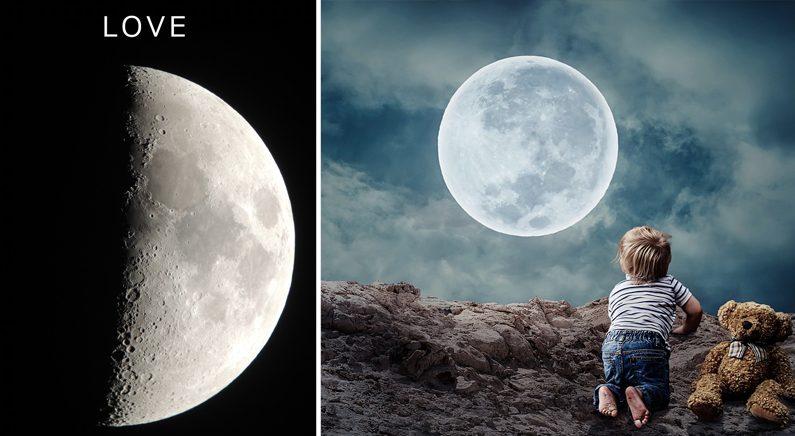 """""""달 속에서 'LOVE' 찾아보세요""""…NASA가 소개한 우주놀이 화제"""