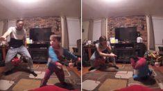 거실에서 댄스 배틀 펼치는 안무가 아버지와 4살 아들