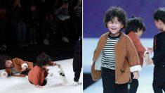 충돌사고로 나뒹굴었지만 즉시 일어나 런웨이 '완주'한 4살 꼬마 모델
