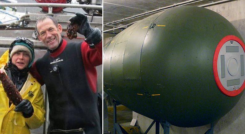 해삼 캐다가 '핵폭탄' 발견한 잠수부