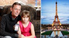 아빠가 잠든 사이에…파리 여행 예약한 9살 소녀