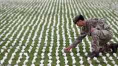 무덤 없이 사라진 1차 세계대전 전사자들 기리며 인형 7만 개 제작한 예술가