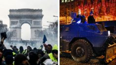 프랑스 파리 4주간의 '노란조끼'농성, 폭력시위로 번져