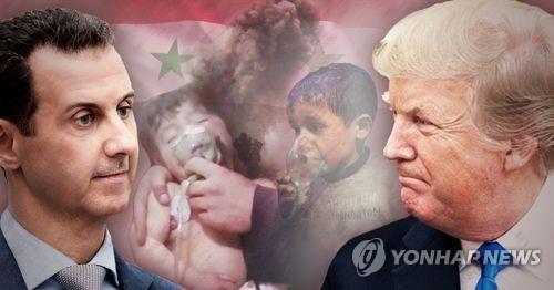 트럼프, 시리아 화학무기 공격 아사드 대통령 비난 (PG)