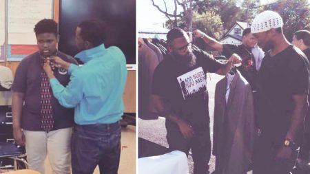 양복 나눠주는 비영리 단체…저소득층 '정장 100벌' 전달