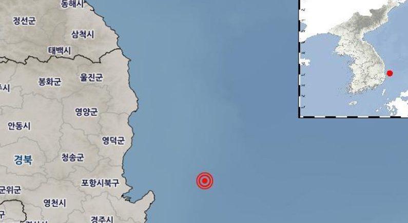 포항 앞바다서 규모 4.1 지진…1년만에 4.0 이상 발생
