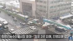 서울 동대문구 경동시장 인근 청량리농수산물시장에 불..점포 3곳 태워