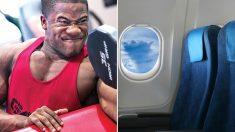 비행기 이코노미석에 탔는데 옆 자리 승객이 엄청난 근육남이었다