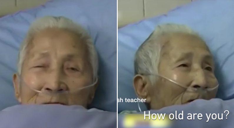 뇌경색으로 쓰러졌다 2주만에 깨어나서 모국어 까먹고 영어만 하는 중국 할머니