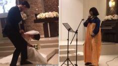 고등학교 시절 나눴던 절친과의 약속 지키려고 '결혼식 축가' 부른 신부 친구 (영상)