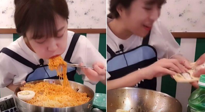 '상금 100만원' 기부하려고 먹방 도전하는 여성 발견한 사장님의 멋진 선택 (영상)