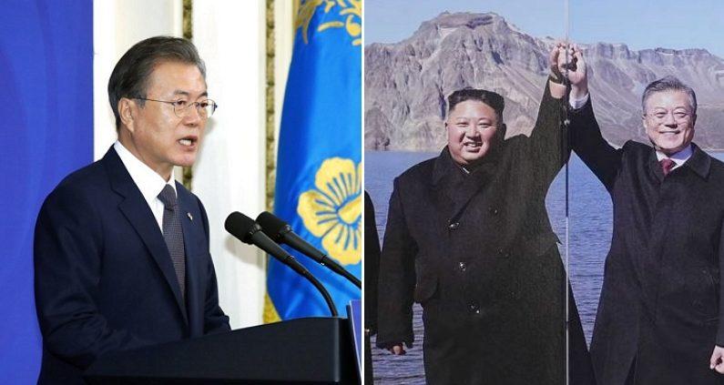 """""""국가유공자분들께 김정은 사진 나눠줬다"""" 논란 이후 청와대가 내놓은 해명"""