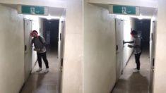 어제(23일)자 신림동에 나타난 피에로 가면남 CCTV 영상
