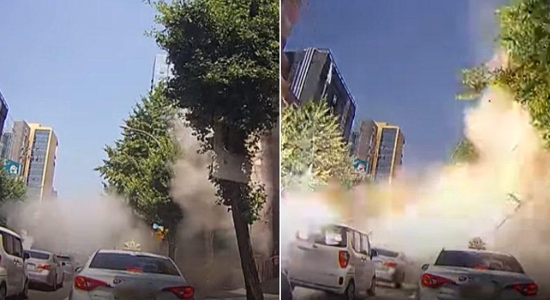 단 '5초' 만에 와르르 무너진 '잠원동 건물 붕괴' 사고 현장 영상