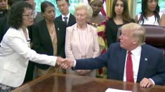 트럼프, 파룬궁 수련자 등 17개국 종교 박해 생존자들과 백악관서 만남