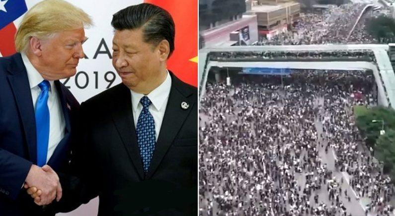"""""""홍콩, 제2의 천안문 되면 안된다"""" 중국 금기어 직접 거론한 트럼프"""