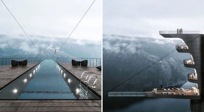 환타지 속 무대 같은 노르웨이의 절벽 호텔 구상안