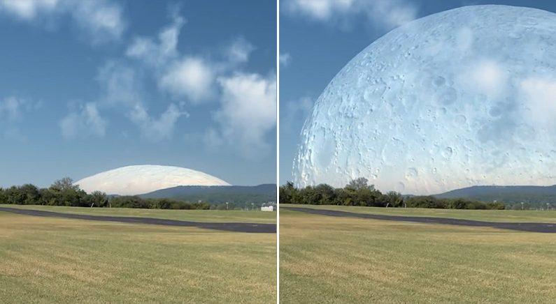 '우주정거장 위치에 달이 있다면' 절실하게 느껴지는 달의 크기 (영상)