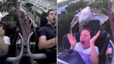 롤러코스터 탑승 중에 날아가던 '새'와 부딪힌 호주 소녀