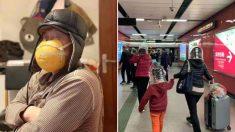 마스크 대란에 자체 제작(?)해 착용하고 외출하는 중국 사람들