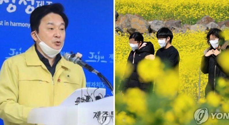 """""""황금연휴에 제주 오지 마세요"""" 원희룡이 대놓고 호소했다"""