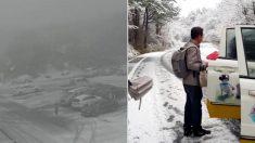 4월 중순인 어제(12일) 제주도에 '최대 30cm' 폭설이 내렸다