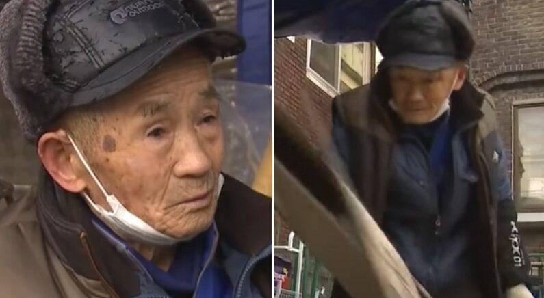 폐지 주워 한 달에 3만원 버는 88세 할아버지를 속인 휴대폰 판매 직원