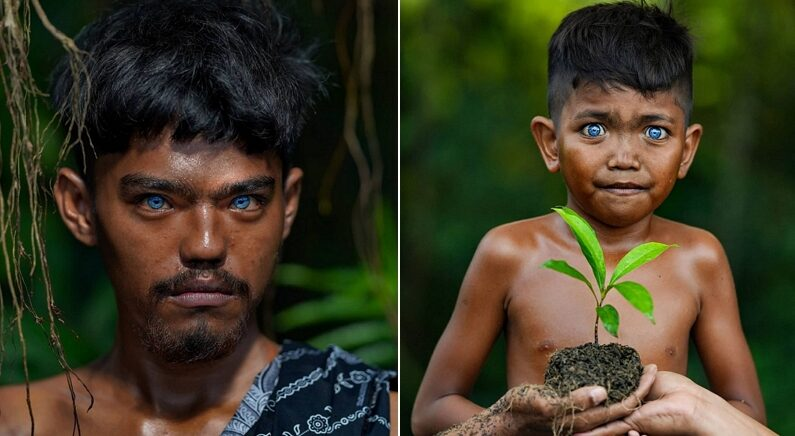 전 세계에서 보기 희귀한 '바다빛 눈동자'의 인도네시아 부족