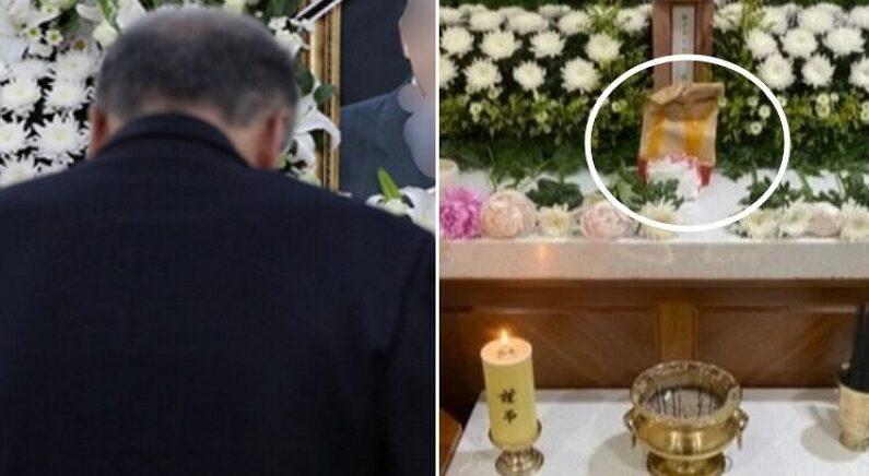 햄버거 2개 든 '맥도날드 봉투' 들고 오열하면서 장례식장에 나타난 조문객
