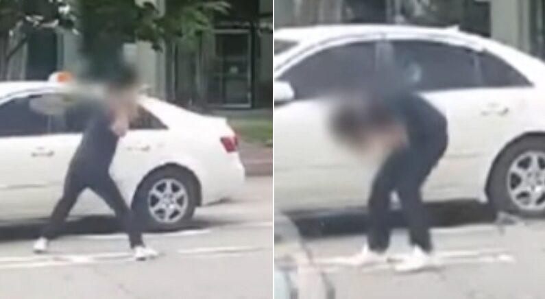 운전자 시비 폭행 현장에서 '실명 사고'가 발생했다 (영상)