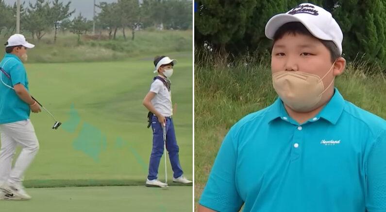 골프 대회 출전한 아들 때문에 '뜻밖의 원성' 듣고 있는 강호동