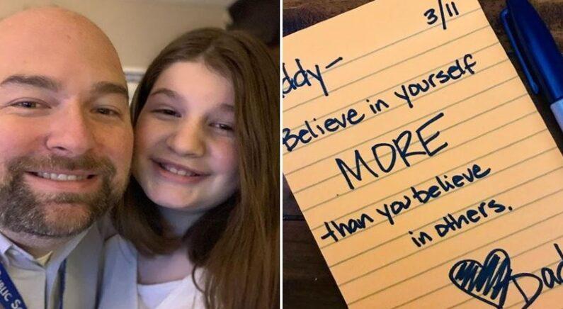 딸이 학교에서 따돌림 당하는 걸 눈치챈 아빠가 4년간 매일 한 행동