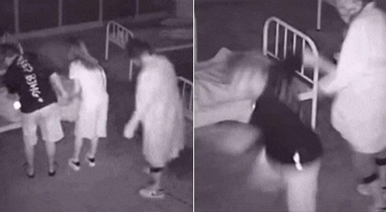 여자친구랑 '귀신의 집' 갔다가 '남자친구' 생긴 남성 (CCTV)