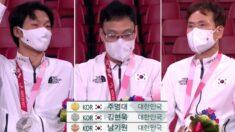 """""""사상 최초"""" 어제(30일)자 패럴림픽 시상식에 나란히 올라간 태극기 3개"""