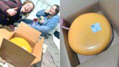 """""""여동생이 젊은 농부랑 데이트하러 갔다가 12kg짜리 치즈 한 덩이를 선물로 받아왔습니다"""""""
